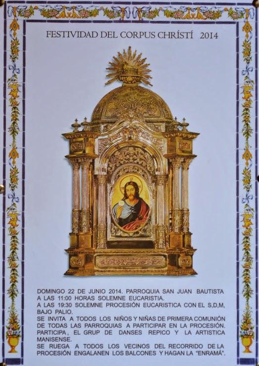 FESTIVIDAD DEL CORPUS CHRISTI , 22.06.2014