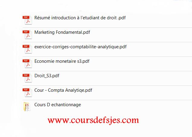 cours fsjes s3 pdf