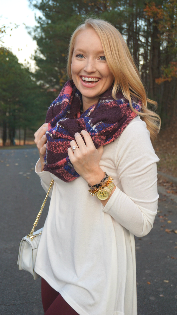blanket scarf, strawberry chic, fall fashion