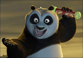 Po with an excited expression in Kung Fu Panda
