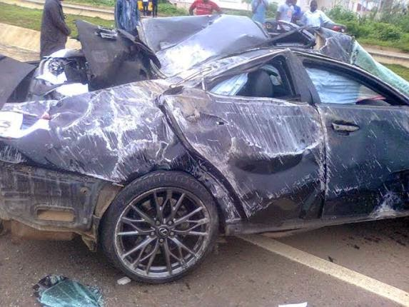 See Photos From The Fatal Accident That Claimed The Life Of Mallam Nasir El Rufai's Son