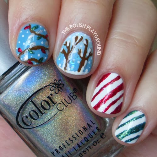 Snowy Holiday Memories Nail Art