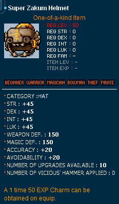 Super Zakum Helmet ~ MapleSecrets - Legendary Hacking and Scamming