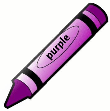 One purple crayola crayon