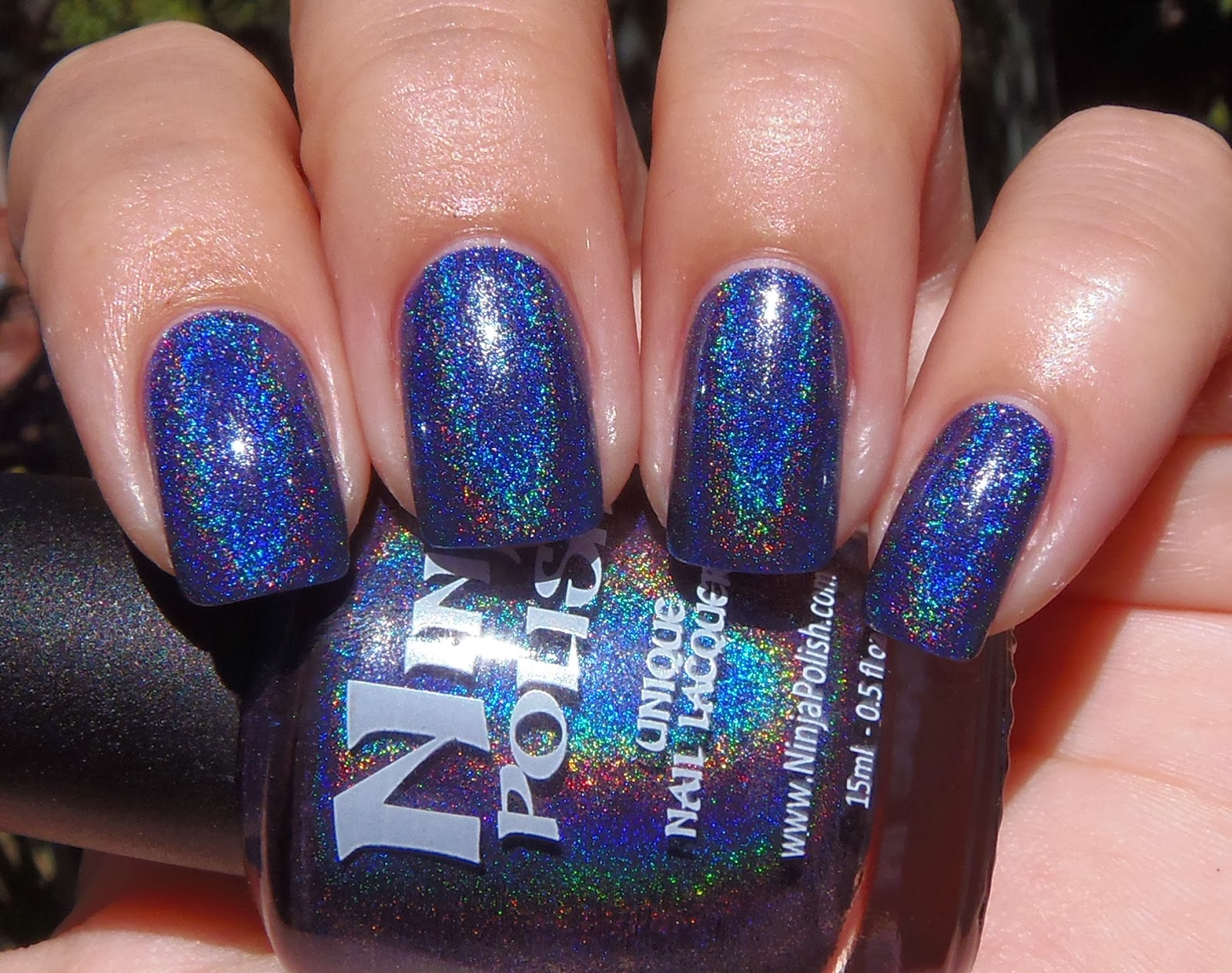 Sparkly Vernis: Ninja Polish Glamorous is a dark blue holographic