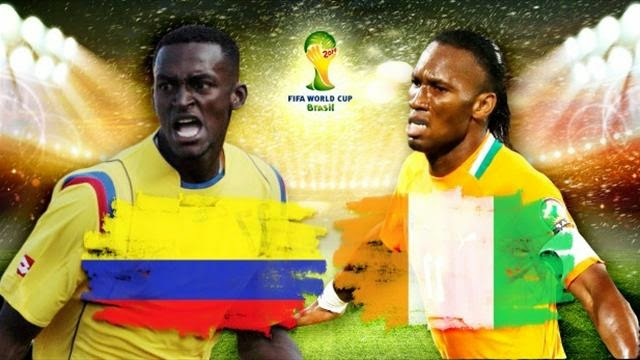 watch Goals of Colombia vs Ivory Coast, Thursday, the 2014 World Cup