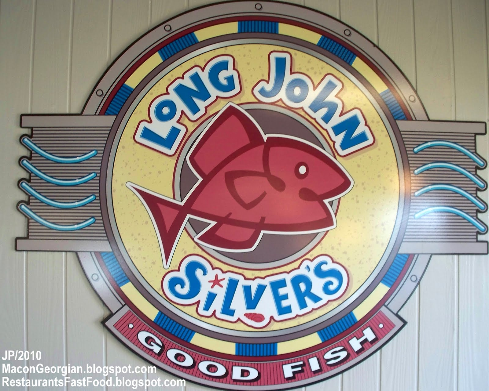 Long John Silver S Cod Thick Cut Platter Sign Seafood Fast Food Restaurant Fish Dinner Meal Fries Slaw