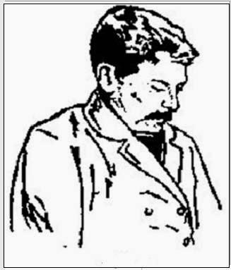 Dibujo de Adolf Albin de perfil