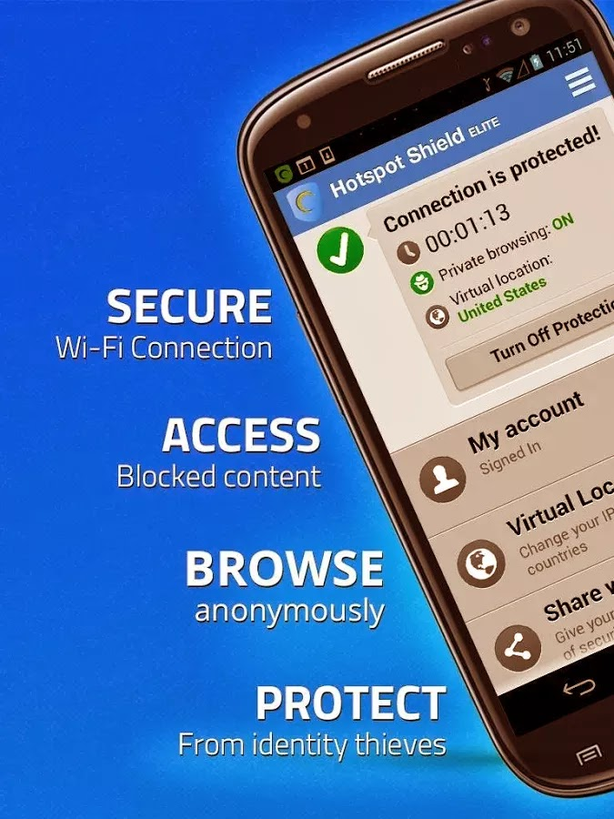 Download Hotspot Shield VPN with 1 Month Free Subscription for Android, iOS