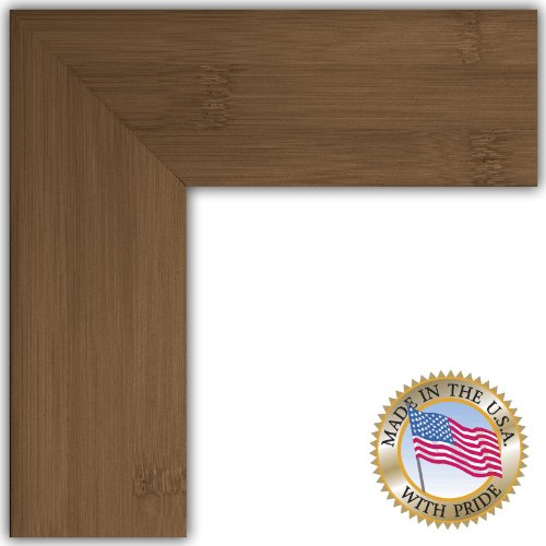 10x13 dark walnut stain real bamboo picture frame. Black Bedroom Furniture Sets. Home Design Ideas