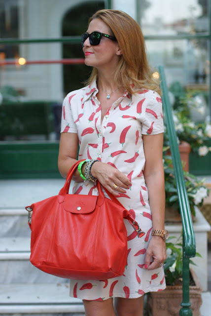 Happiness basics peppers dress, Fashion and Cookies, fashion blogger italiana