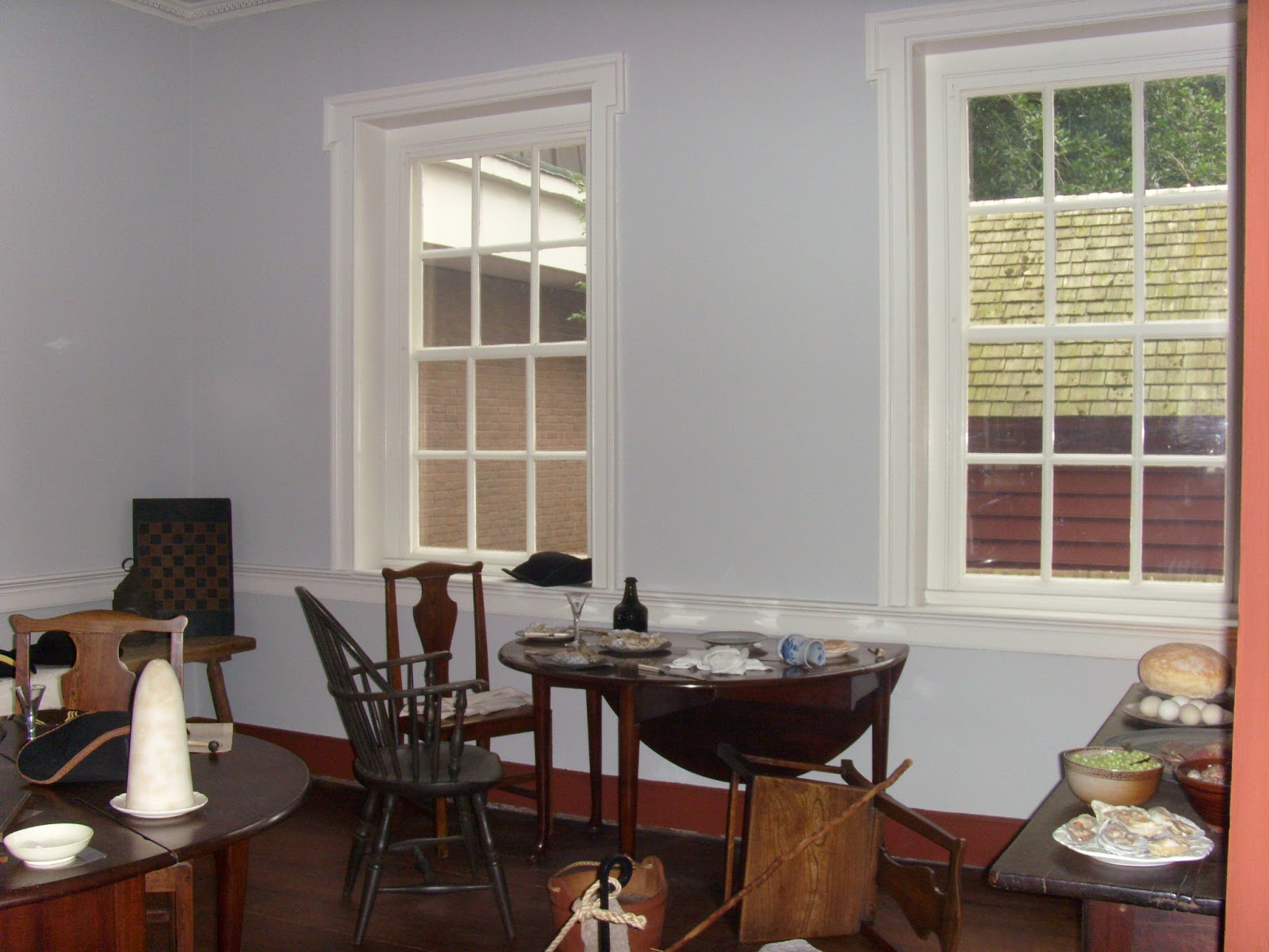 Main tavern room at Gadsby's Tavern in Old Town Alexandria