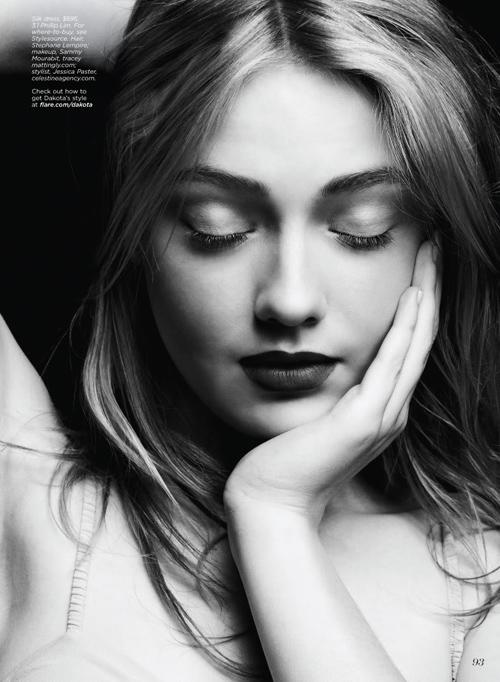 Marie Claire Magazine,Dakota Fanning