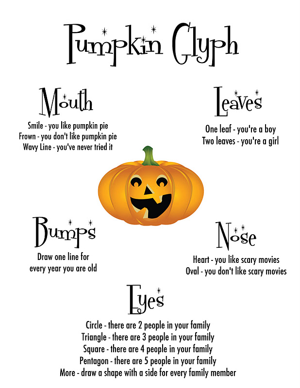 homes cool pumpkin day - Halloween Glyphs