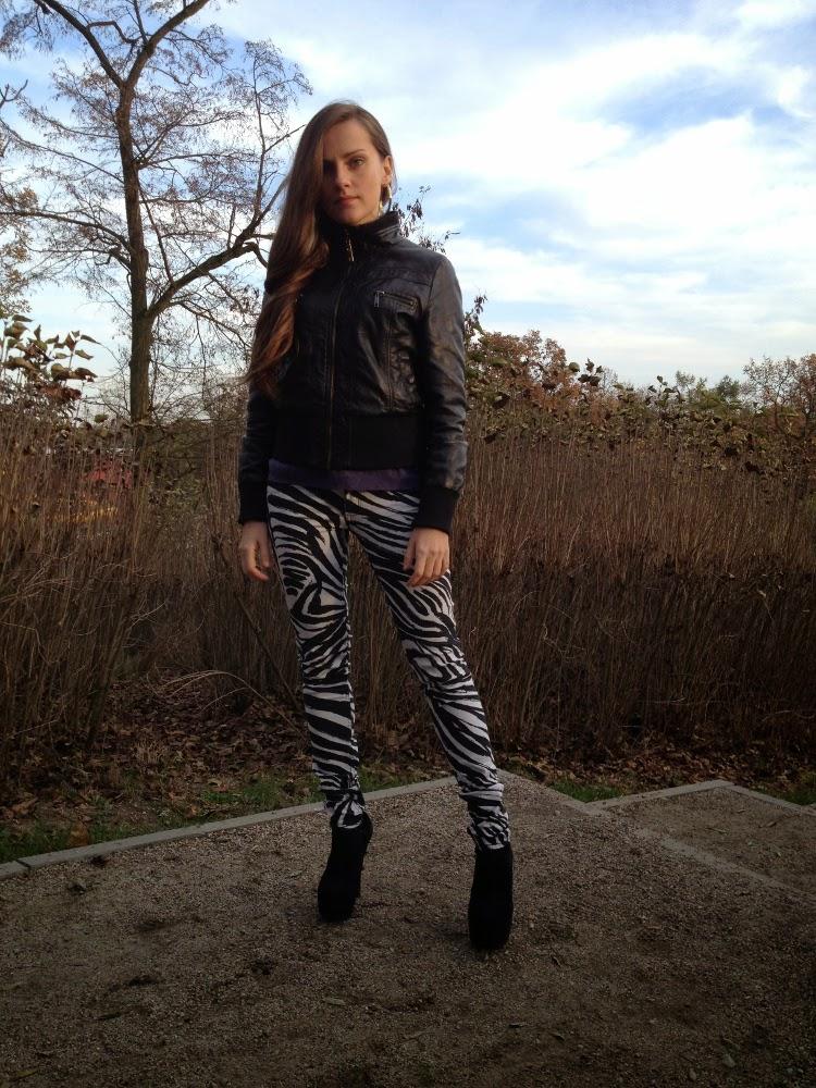 jeansy w zebrę