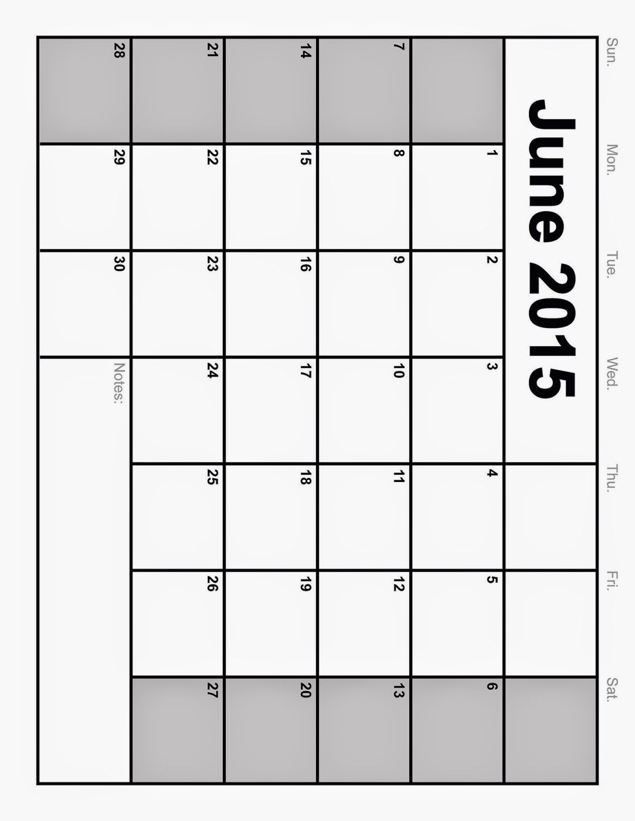 ... Calendar Template June Weekly 2013/page/2 | New Calendar Template Site