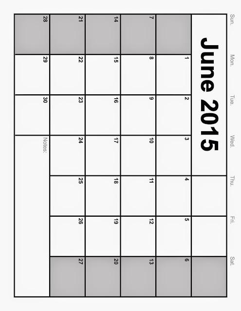 June Blank Calendar 2013/page/2 | New Calendar Template Site