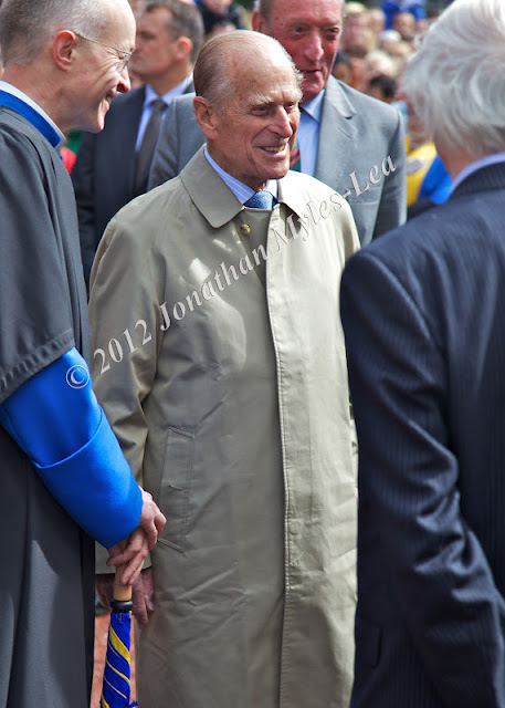 HRH Prince Philip visits Hereford Cathedral. Photo © Jonathan Myles-Lea