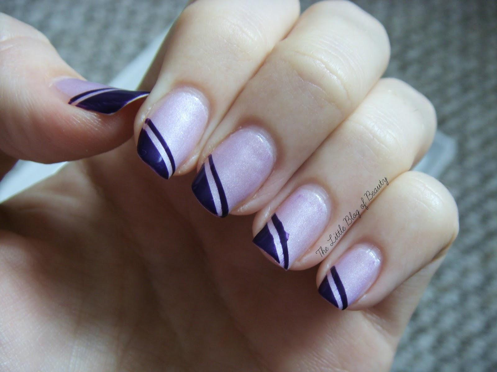 Nail art - Geometric corners | The Little Blog of Beauty
