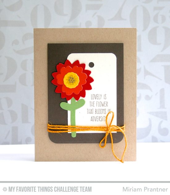 Lovely is the Flower Card by Miriam Prantner featuring the Lisa Johnson Designs Whimisical Wishes stamp set and the Modern Blooms stamp set and Die-namics