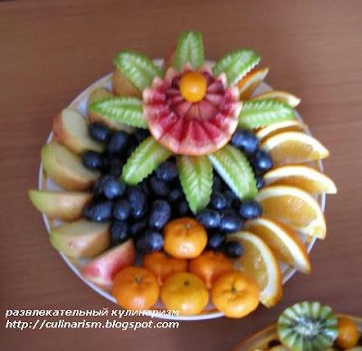 как красиво разложить фрукты