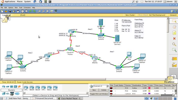 packet tracer screenshot
