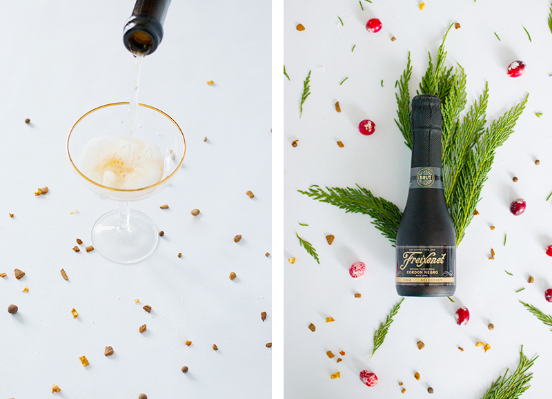 Make your own easy holiday cocktail by putting a festive spin on an old favourite — meet the 'Santa 75'
