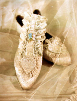 Princess Diana's Wedding Dress Attributes: Wedding slippers