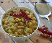 Pressure cook Chow Chow and thuar dhal with turmeric powder and salt