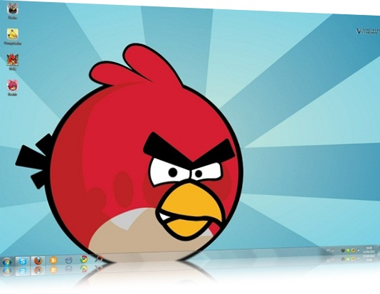 Download Angry Birds Theme Windows Seven