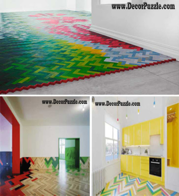 colorful and colored flooring ideas, creative flooring ideas and options