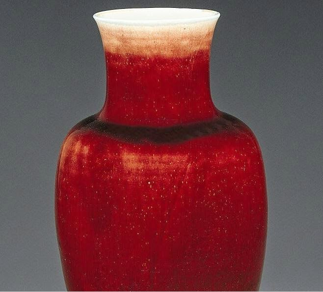 mouth Kangxi oxblood baluster vase