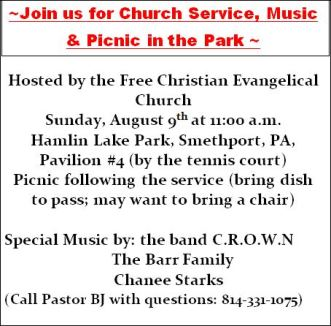 8-9 Chuch Picnic Christian Evangelical Church
