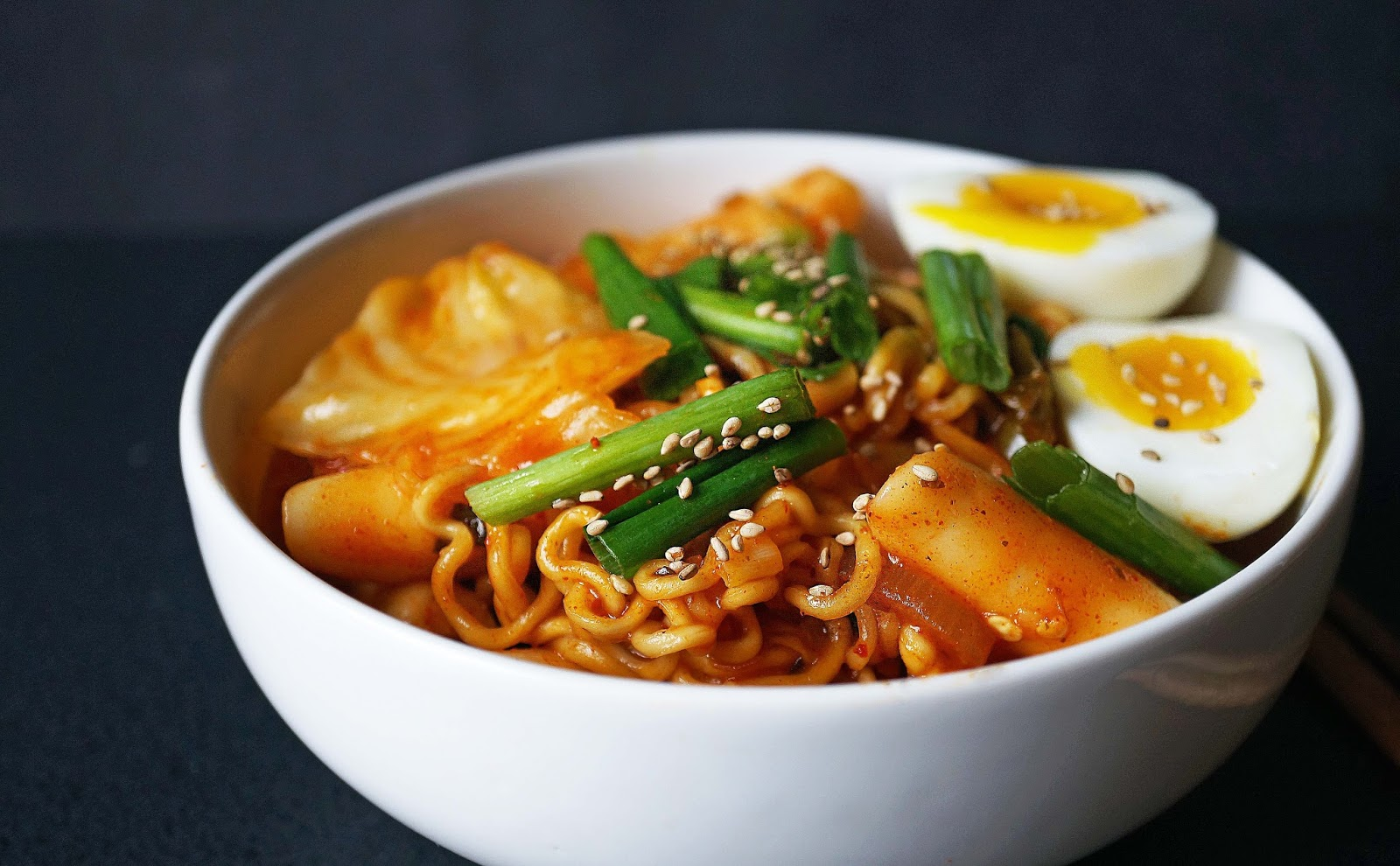 Korean Spicy Rice Cake With Ramen