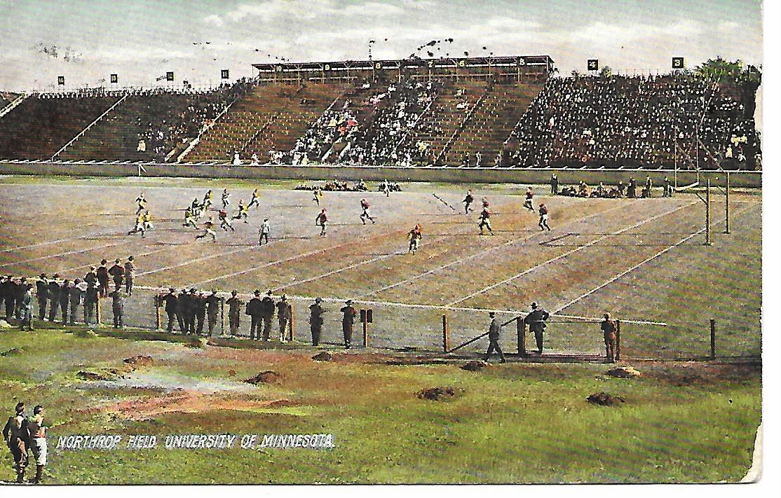 This Is A Great 1907 Post Card Of Northrop Field University Minnesota With Football Players On The Will Be Listing An EBay Auction Tonight