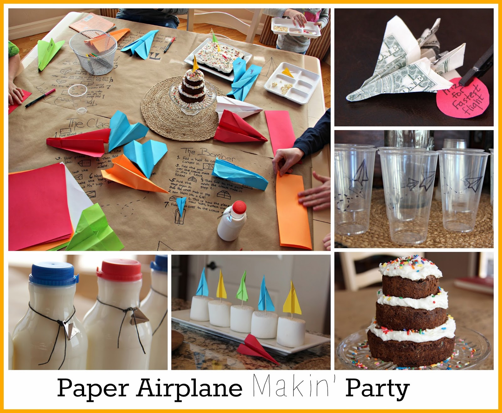 Moore Minutes Paper Airplane MAKING Themed 10th Birthday Party