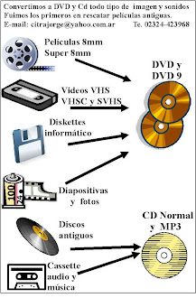 SERVICIO DE CONVERSIONES A DVD Y CD