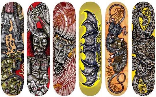 anti hero skateboards x dennis mcnett ©