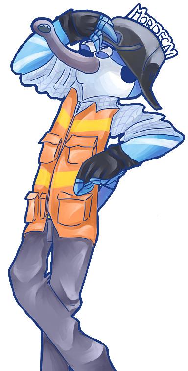 Mordecai ingeniero por azchooo
