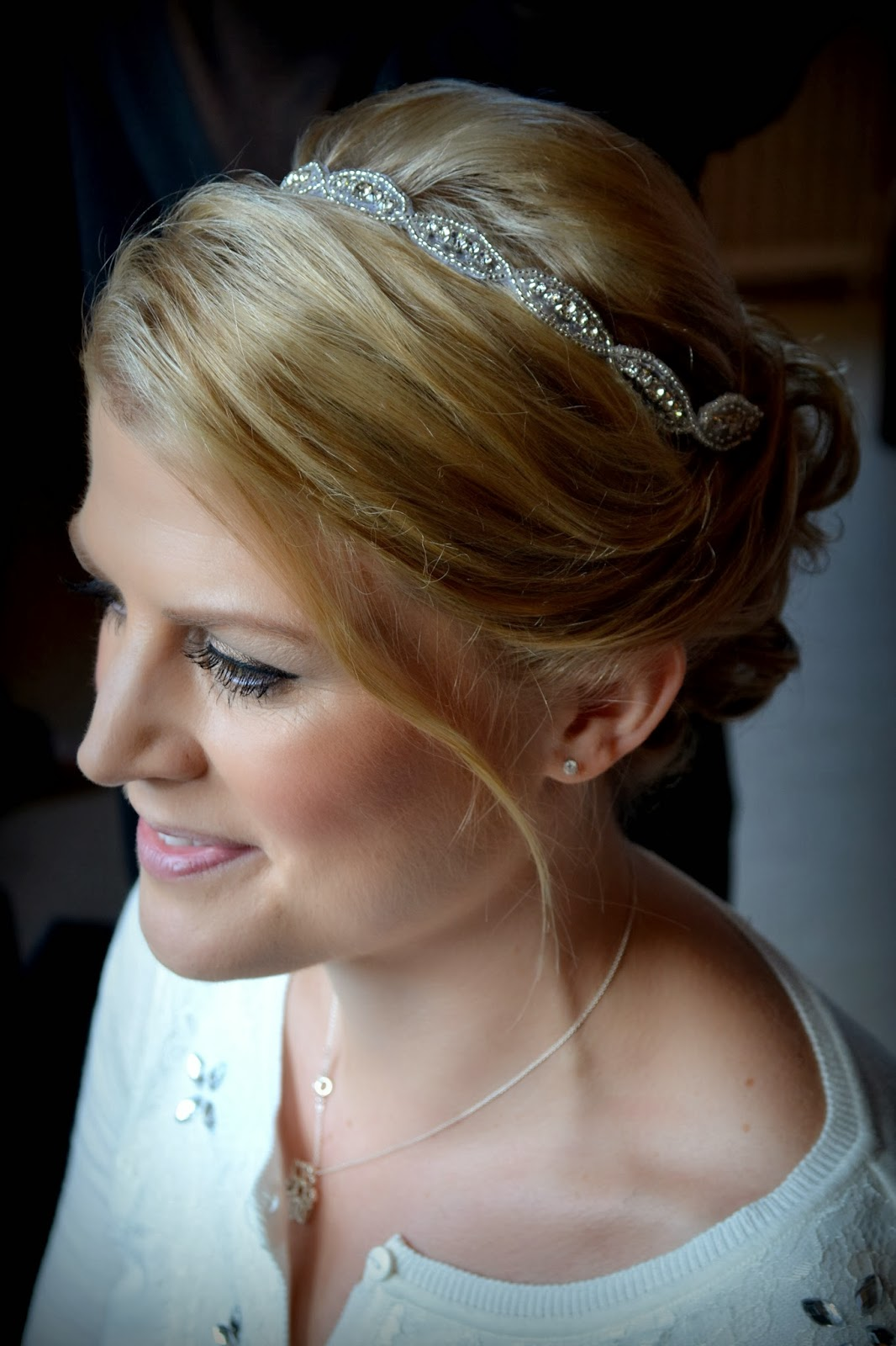 clearwell castle wedding hair styling for julia