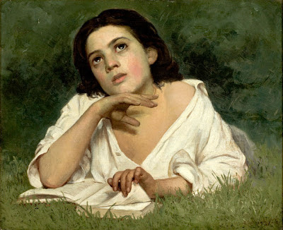 Girl with a Book by José Ferraz de Almeida Júnior (1850–1899) - Scripture exhorts us to think on what is good, pleasant and noble. Why? Because there are so many good, pleasant and noble things in this world to think about!
