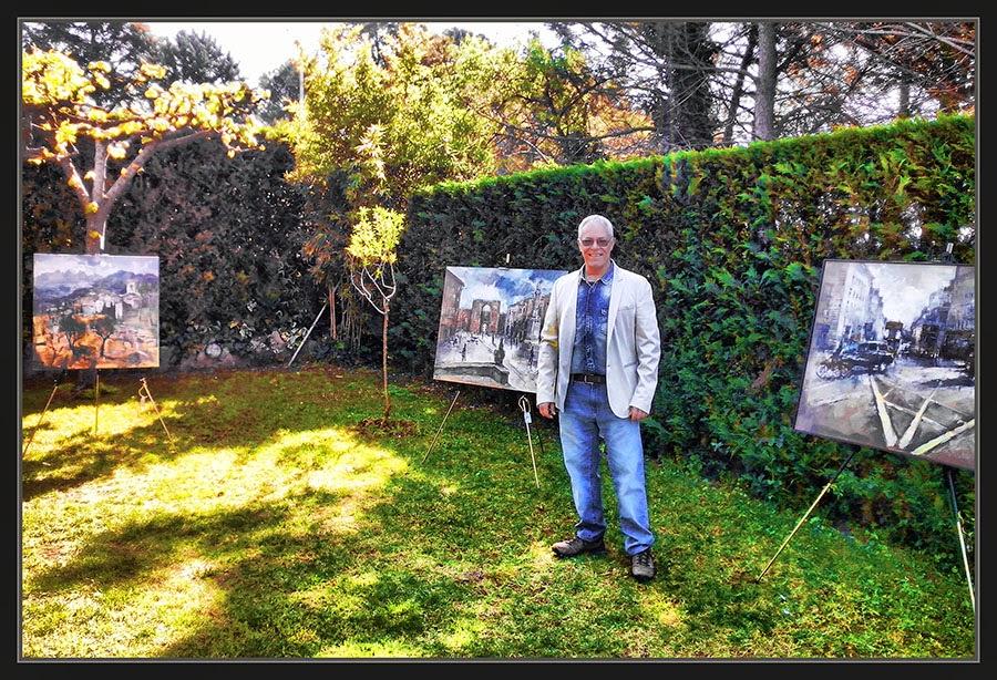 PINTURA-EXPOSICIONS-EXPOSICION-PINEDA DE BAGES-ART-JARDÍ-FOTOS-PINTOR-ERNEST DESCALS-