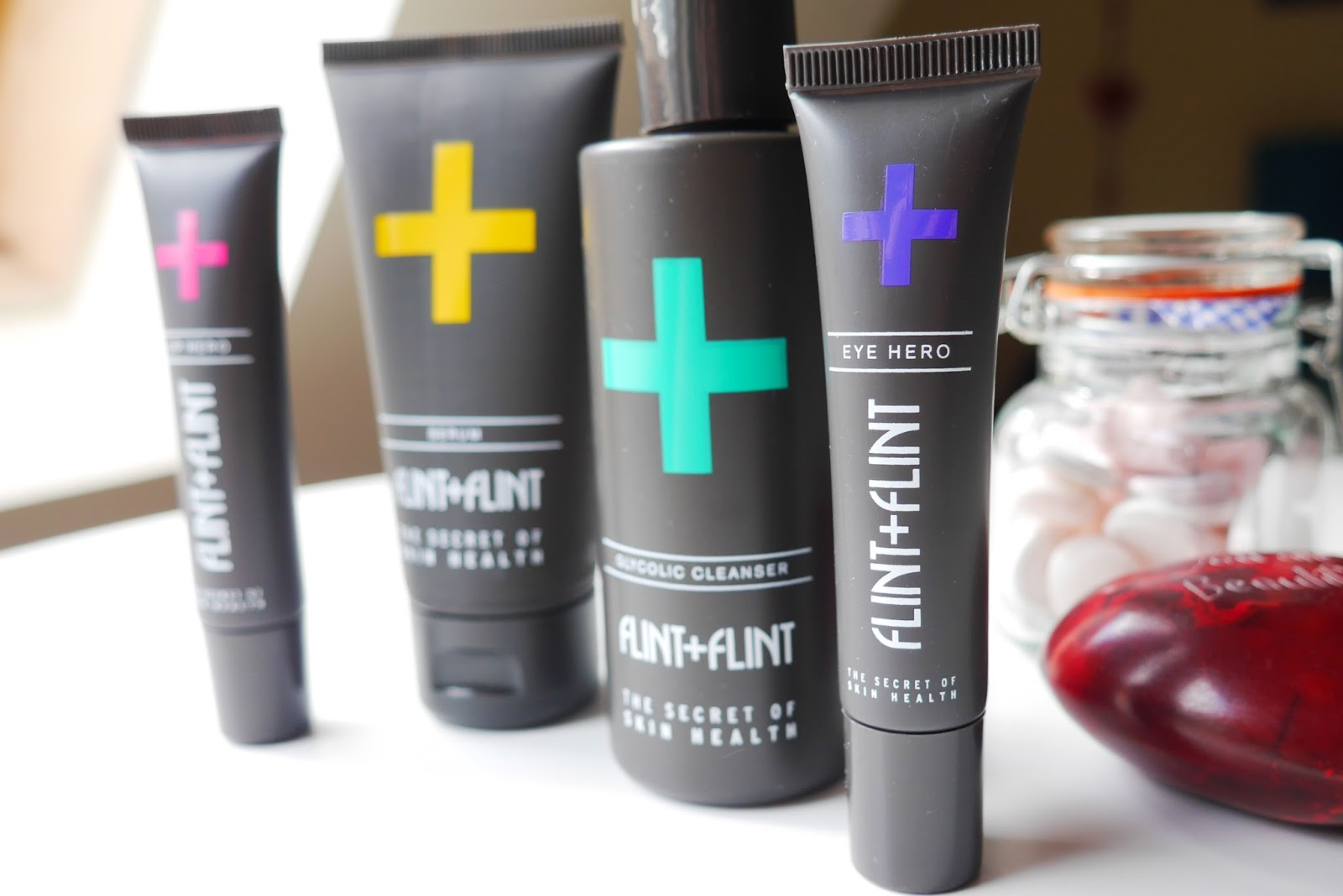 Flint + Flint Skincare Lip Hero, Eye Hero, Serum, Glycolic Cleanser