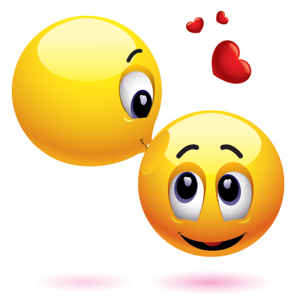 Forehead kiss emoticons