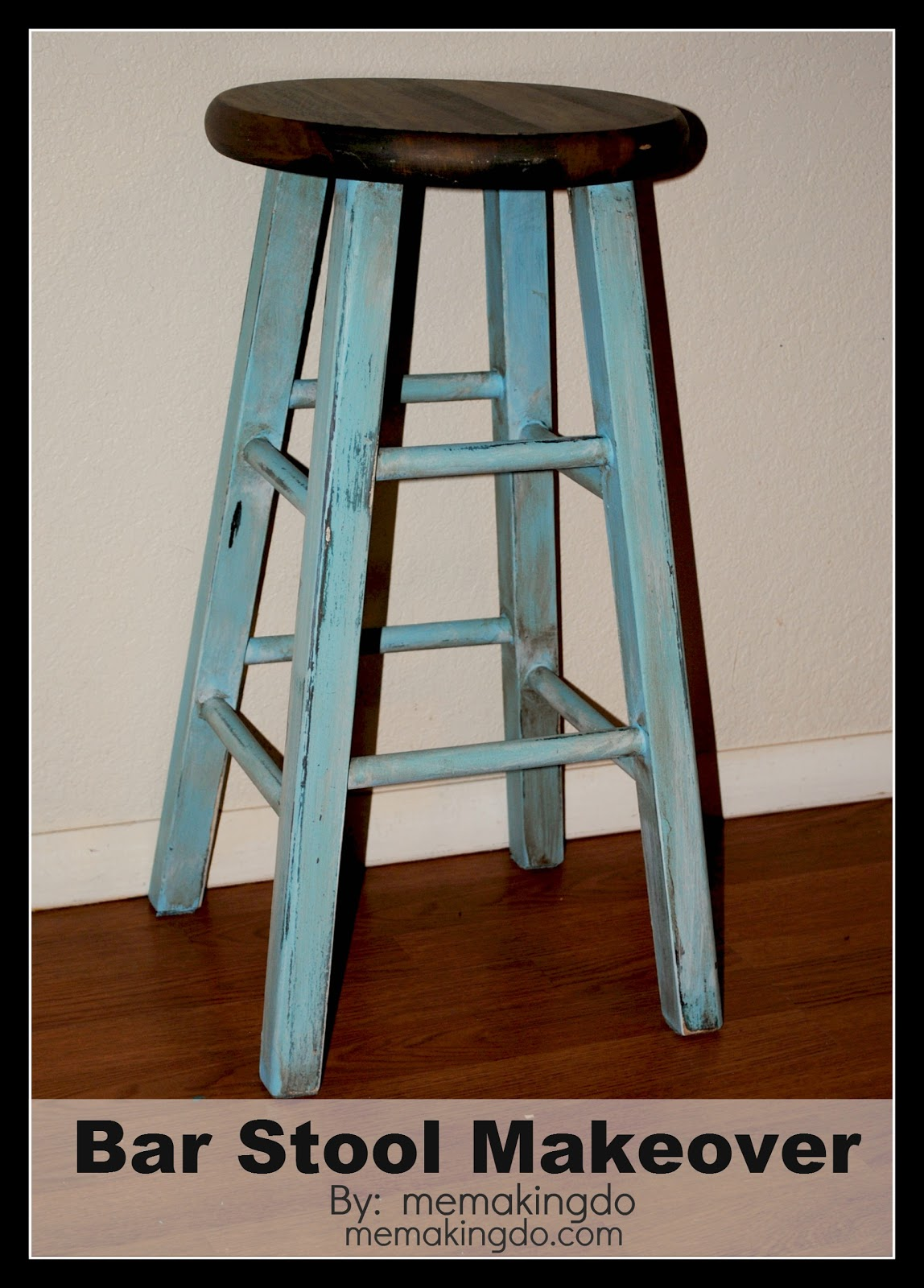 Bar Stool Makeover. Full resolution  portrait, nominally Width 1148 Height 1600 pixels, portrait with #5B2F13.