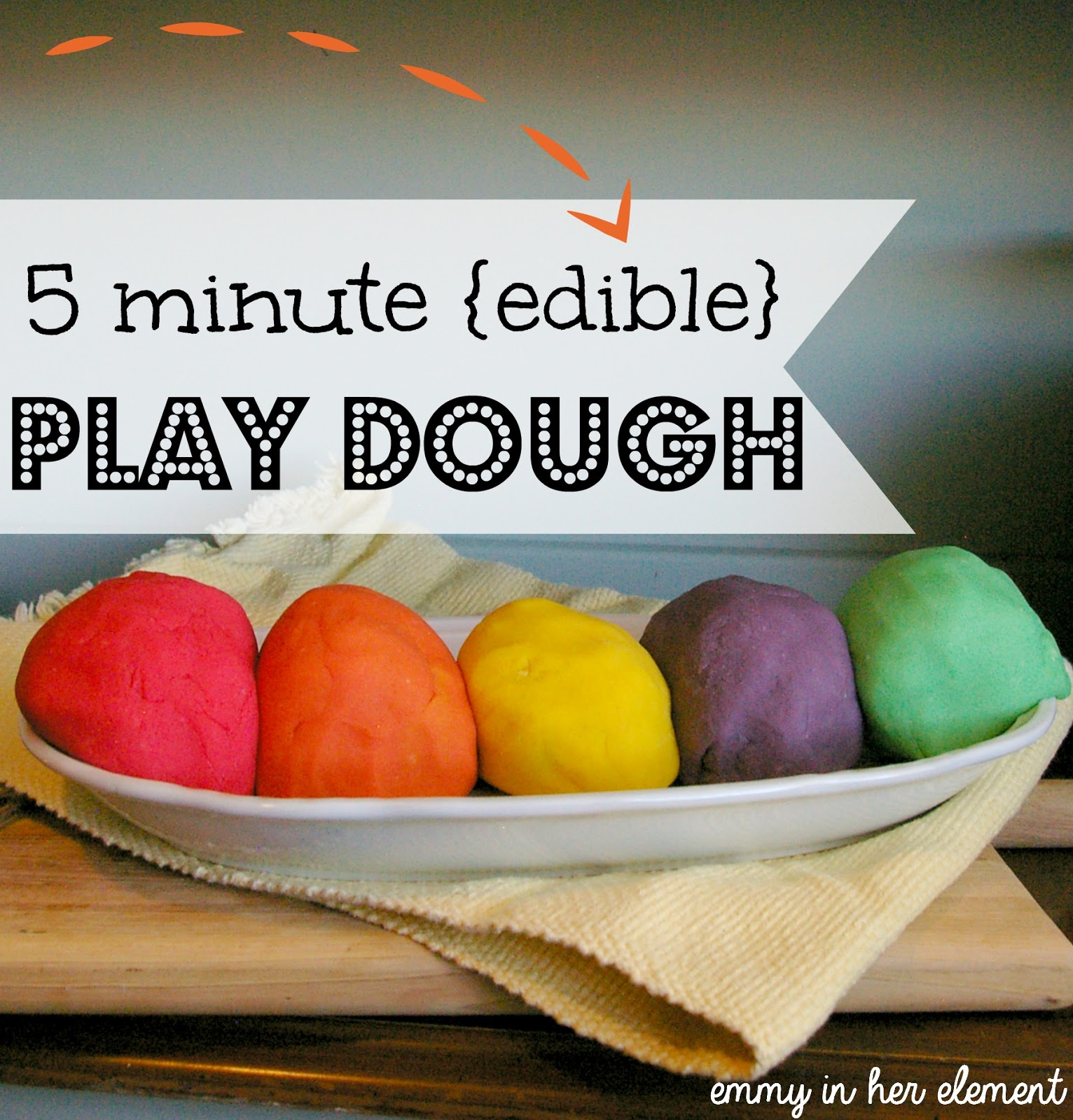 5 minute non toxic play dough