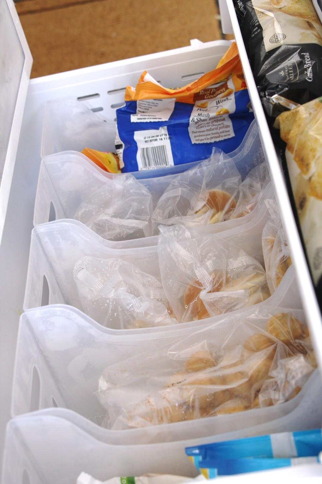 organized freezer drawers - simply organized