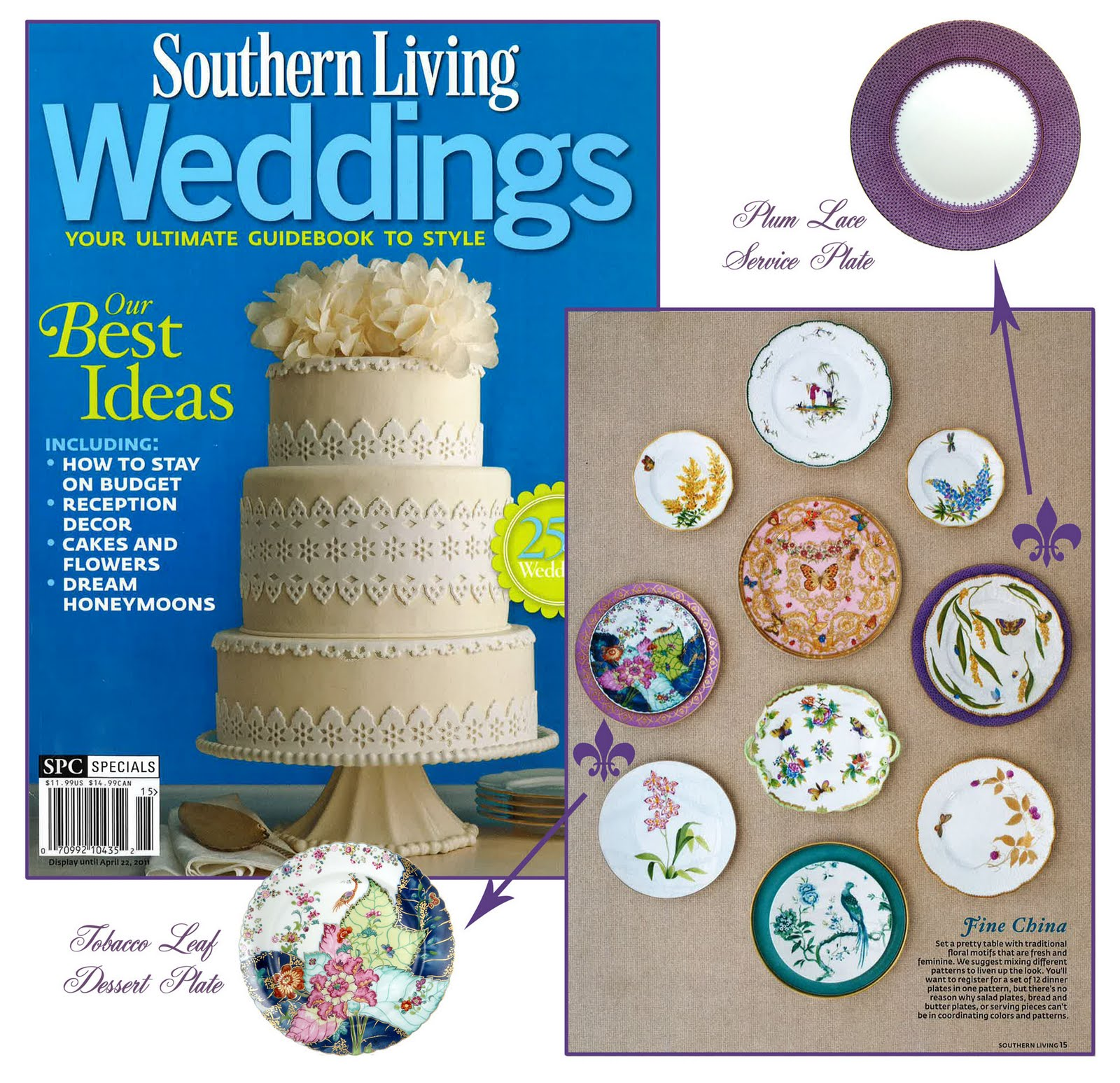 southern living weddings spring tobacco leaf lace