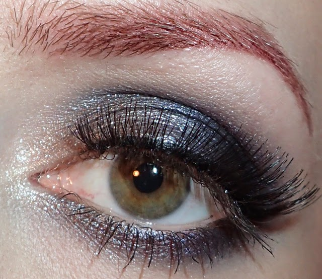 Glitter Is My Crack Silver And Blue Eye Makeup Look