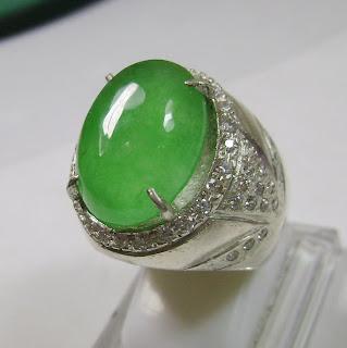 Cincin Batu Permata Giok Jadeite Jade